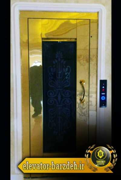 درب لولایی طبقه آسانسور استیل طلایی قیمت خرید فروش