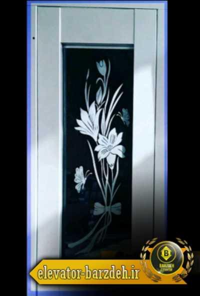 درب لولایی آسانسور طرح شیشه ای قیمت خرید فروش