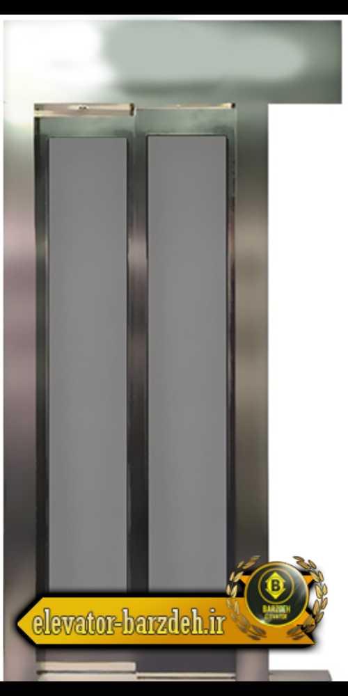 درب اتوماتیک آسانسور حریری در طرح استیل طلایی قیمت خرید فروش